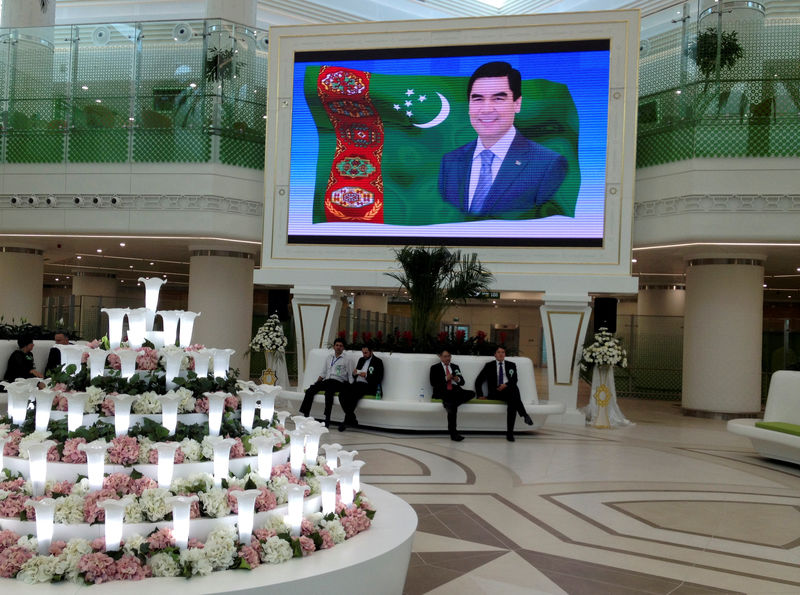 Turkmenistan's leader appears at Hell's Gate to dispel rumors of own d