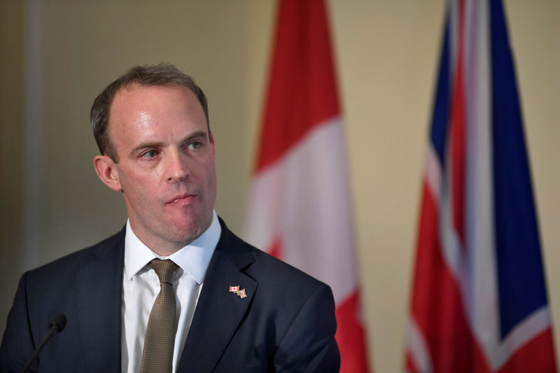 © Reuters. Raab, leadership candidate for Britain's Conservative Prime Minister, attends a hustings event in London