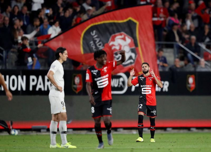 © Reuters. Ligue 1 - Stade Rennes v Paris St Germain