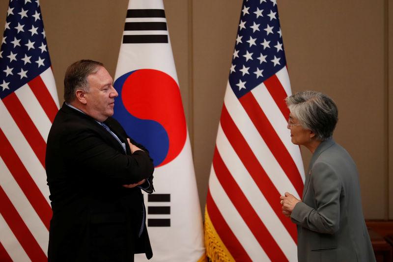 © Reuters. GSOMIA破棄、「韓国の決定に失望」と米国務長官