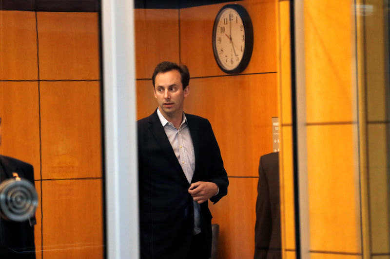 © Reuters. Former Uber engineer Anthony Levandowski leaves the federal court after his arraignment hearing in San Jose