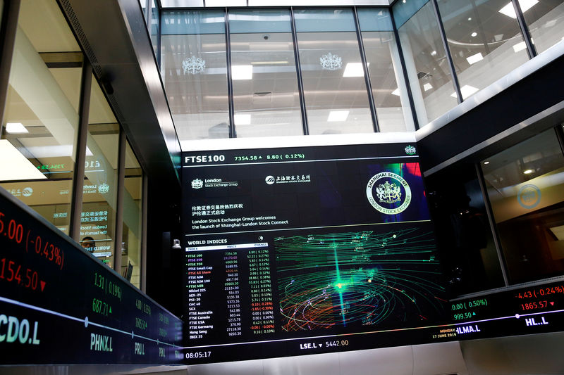© Reuters. 香港証取、ロンドン証取の買収を提案 提示額390億ドル