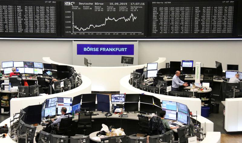 Shares, bond yields perch at six-week highs