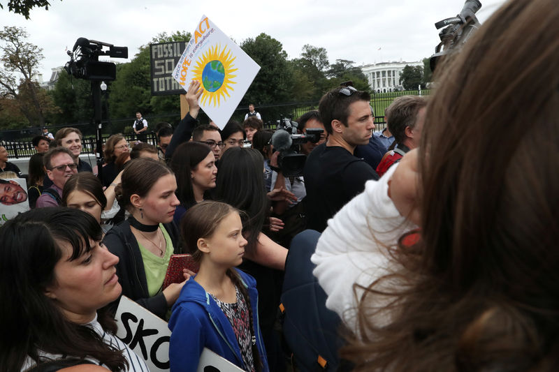 Teenage activist Greta Thunberg takes climate protest to Trump By Reut