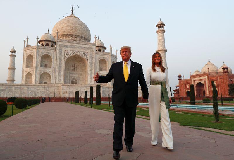 Donald Trump accueilli en grande pompe en Inde