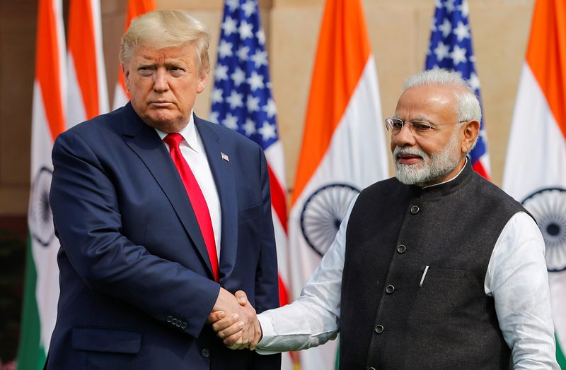 © Reuters. U.S. President Donald Trump visits India