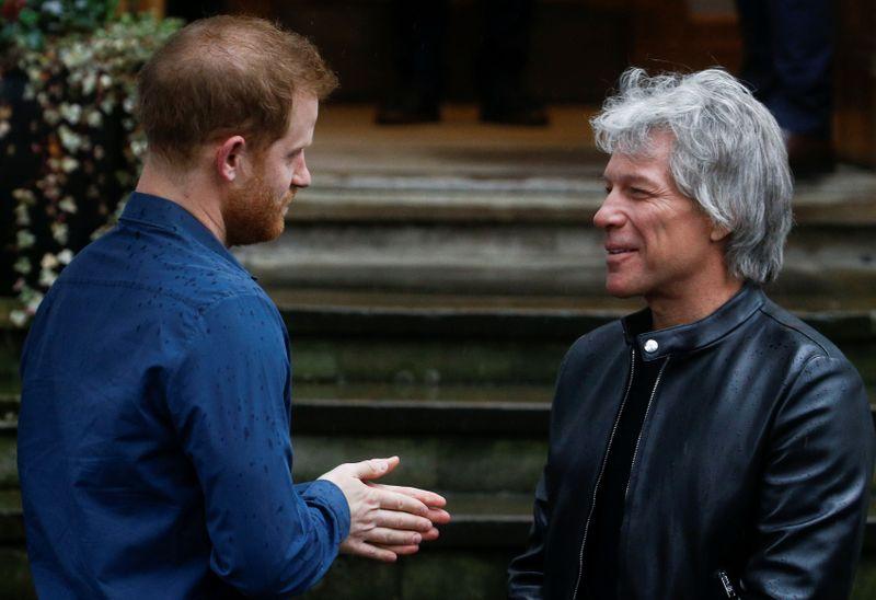 Image result for Prince Harry meets Jon Bon Jovi at Abbey Road Studios