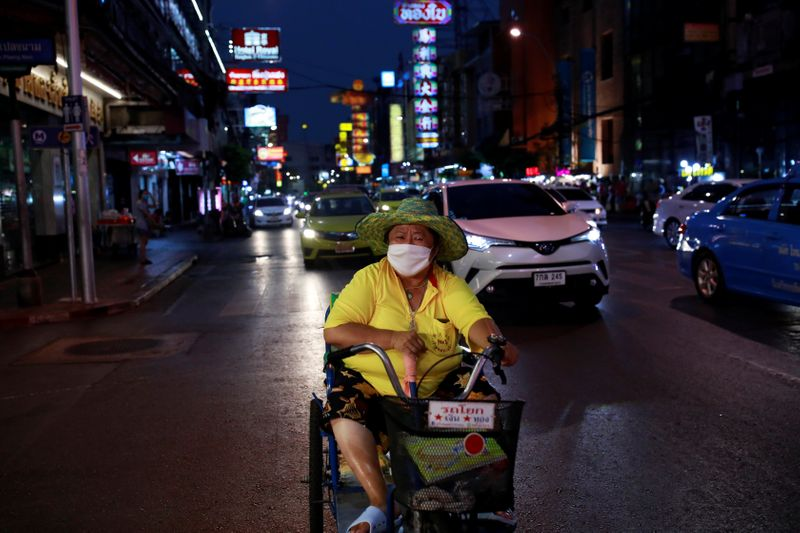 © Reuters. The spread of the coronavirus disease (COVID-19) in Bangkok