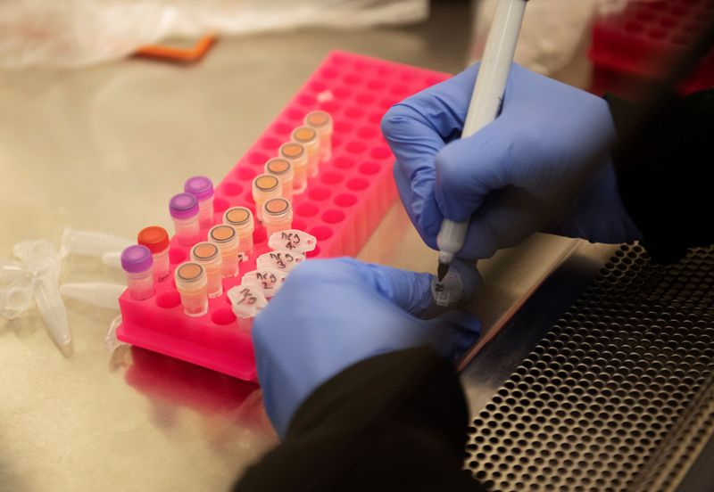 © Reuters. Researchers set up new labs to help fight coronavirus at the University of Minnesota