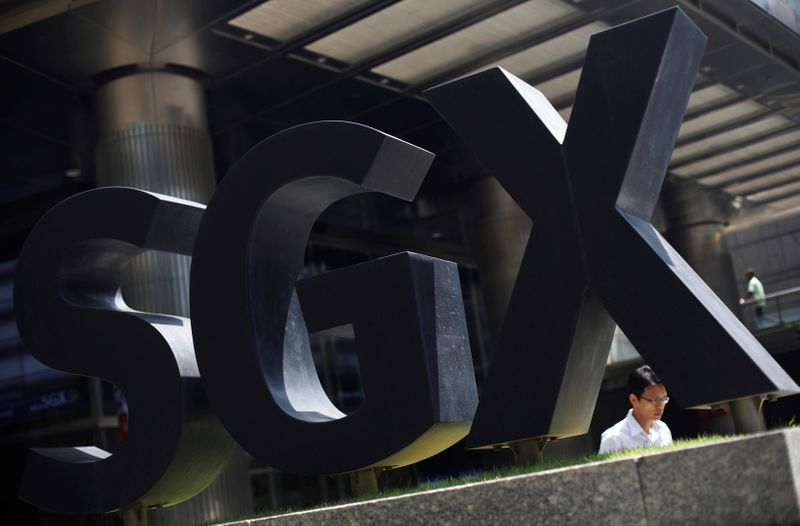 © Reuters. An SGX sign is pictured at Singapore Stock Exchange