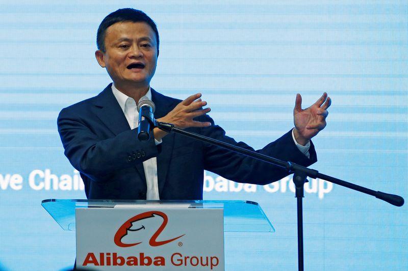 © Reuters. FOTO DE ARCHIVO: Jack Ma, fundador del gigante chino de comercio electrónico Alibaba, habla durante el lanzamiento de la oficina de Alibaba en Kuala Lumpur