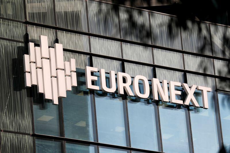 © Reuters. EURONEXT FINALISE L'ACQUISITION DU DÉPOSITAIRE DANOIS VP SECURITIES