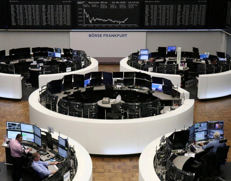 © Reuters. LES BOURSES EUROPÉENNES FERMENT EN ORDRE DISPERSÉ