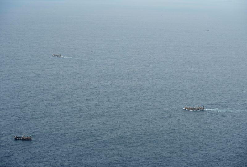 Ecuador navy surveils huge Chinese fishing fleet near Galapagos By Reuters