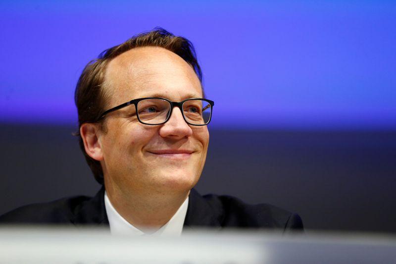 © Reuters. FILE PHOTO:  RWE CFO Markus Krebber attends the annual shareholders meeting of German power supplier RWE in Essen