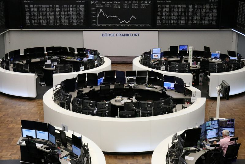 European shares fall after U.S. Fed's grim view on recovery