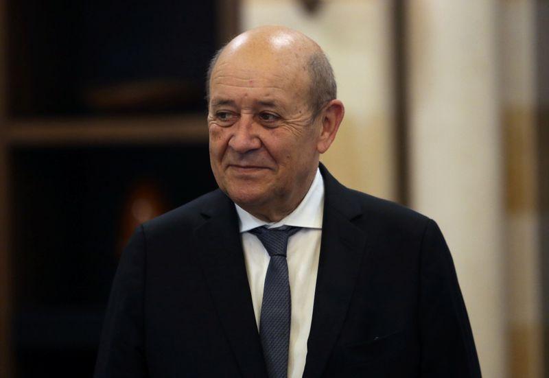 © Reuters. SUR TIFFANY, LE DRIAN DIT AVOIR ÉTÉ