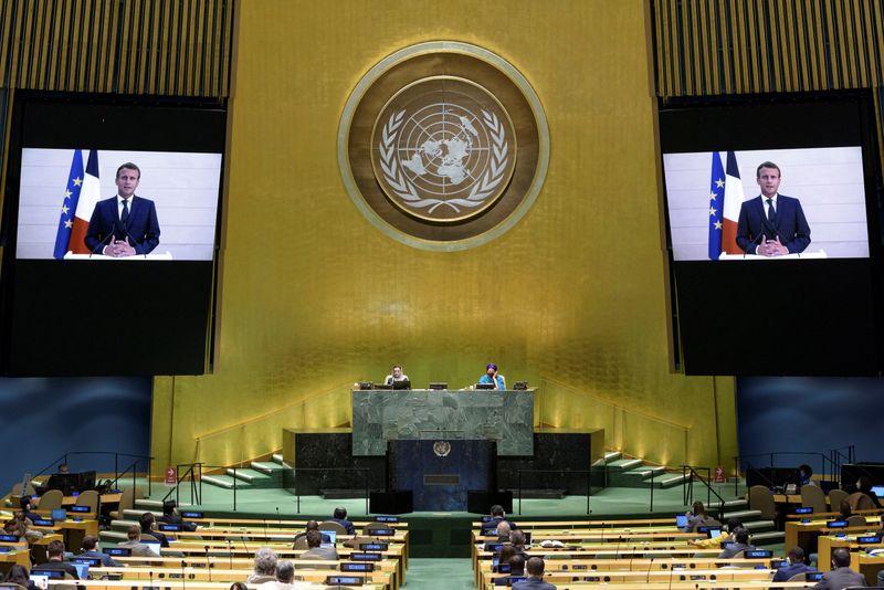 © Reuters. ماكرون يطالب بإيفاد بعثة من الأمم المتحدة لمنطقة شينجيانغ الصينية