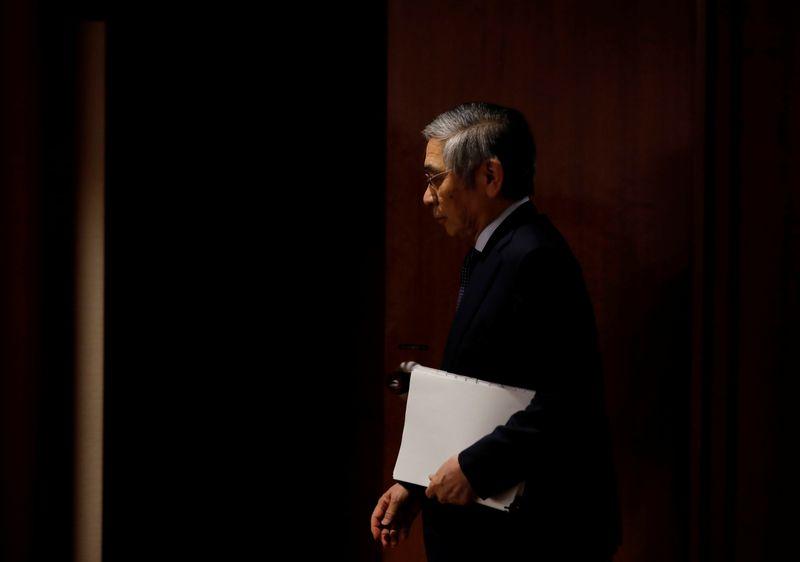 © Reuters. LA BANQUE DU JAPON PRÊTE À PROLONGER DES SOUTIENS AUX ENTREPRISES