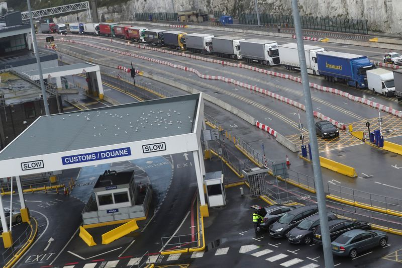 EU-bound trucks from UK could face two-day delays after Brexit, Britain says