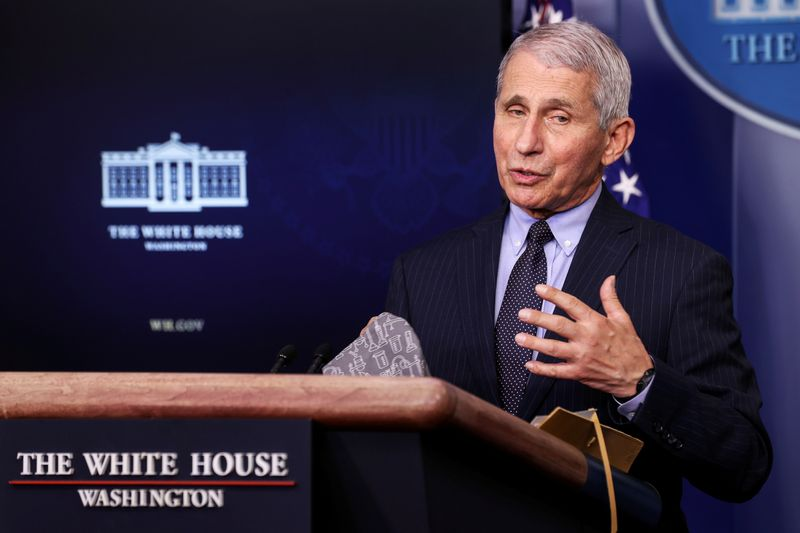 Fauci urges Americans to get any of the three COVID-19 vaccines available By Reuters