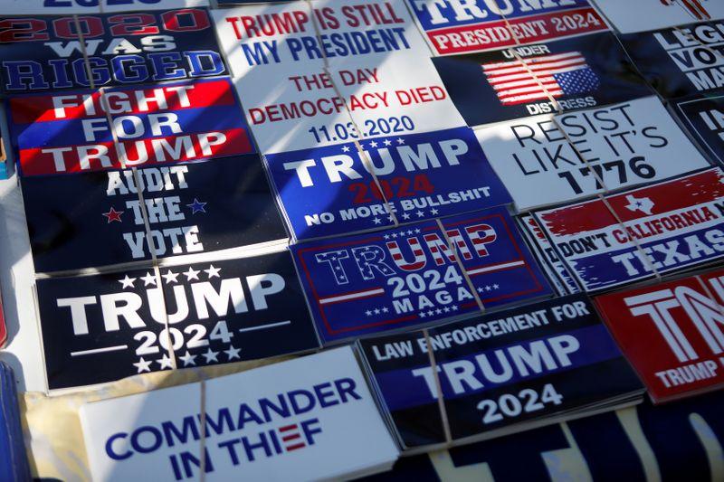 Trump targets disloyal Republicans, repeats election lies and hints at 2024 run