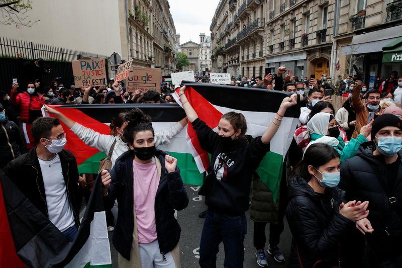 France: Manifestations pro-palestiniennes dans plusieurs villes, tensions à Paris