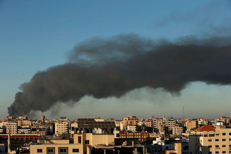 Israel air strikes kill 42 Palestinians, rockets fired from Gaza