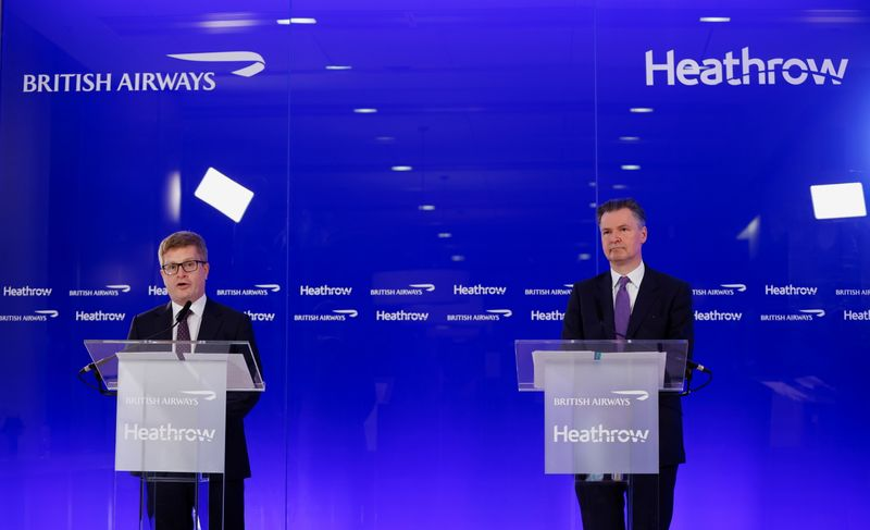 Britain's travel reopening not enough, say BA and Heathrow bosses