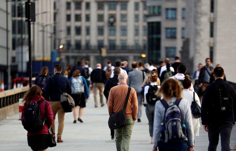 UK jobless rate falls again, hiring up as lockdown eases