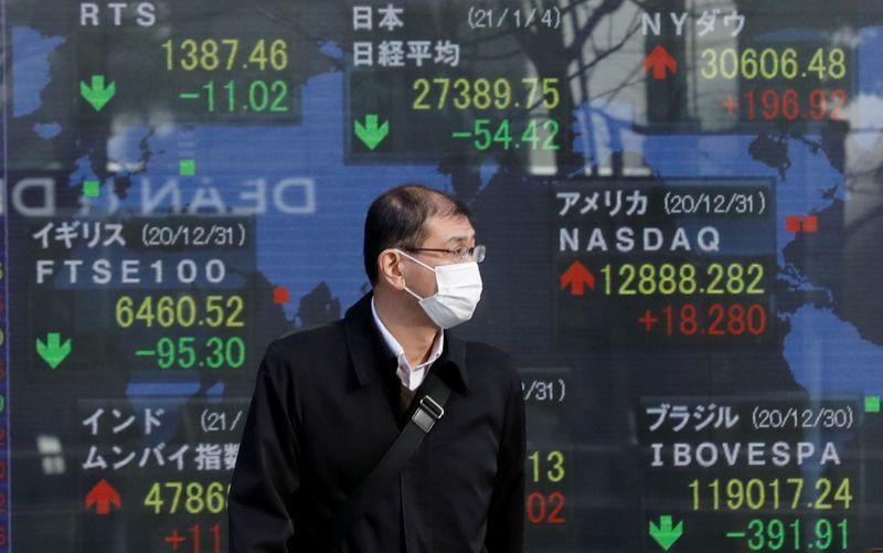 Японские акции закрылись в минусе из-за снижения аппетита к риску