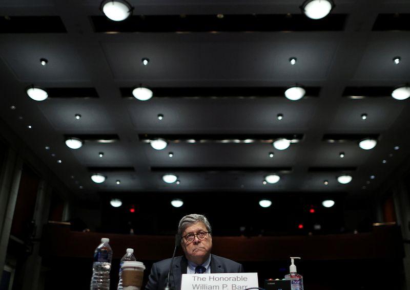 U.S. Justice Department appeals order faulting former U.S. Attorney General Barr